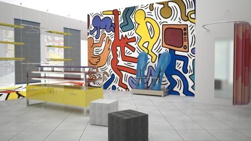 1394 arredamento negozi banco vendita espositori cubi for Arredamento vendita
