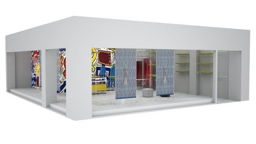 1395 arredamento negozi rendering for Rendering arredamento
