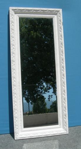 2032 specchio rettangolare con cornice decorata da appendere - Specchio cornice bianca ...