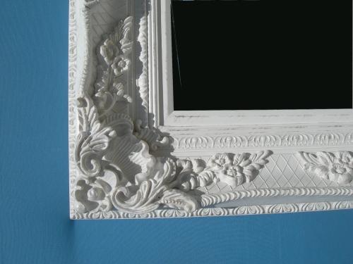 Cornici In Polistirolo Per Specchi.2595 Cornice Specchio Bianco Lavorato