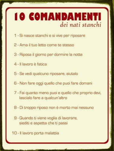 I 10 comandamenti - Tavole dei dieci comandamenti ...