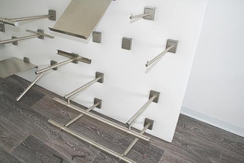 5216 acciaio inox satinato arredamento negozi serie quadro for Negozi arredamento on line