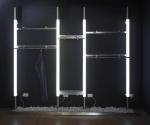 0540 arredamento negozi montante luminoso gancio alluminio for Forum arredamento galleria fotografica